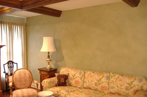 Colorwash and Faux Bois Beams