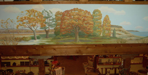 "Mural, ""Lake, Woods, Marsh"" (Fall - Winter)"