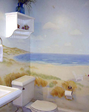 Nantucket Bath Mural
